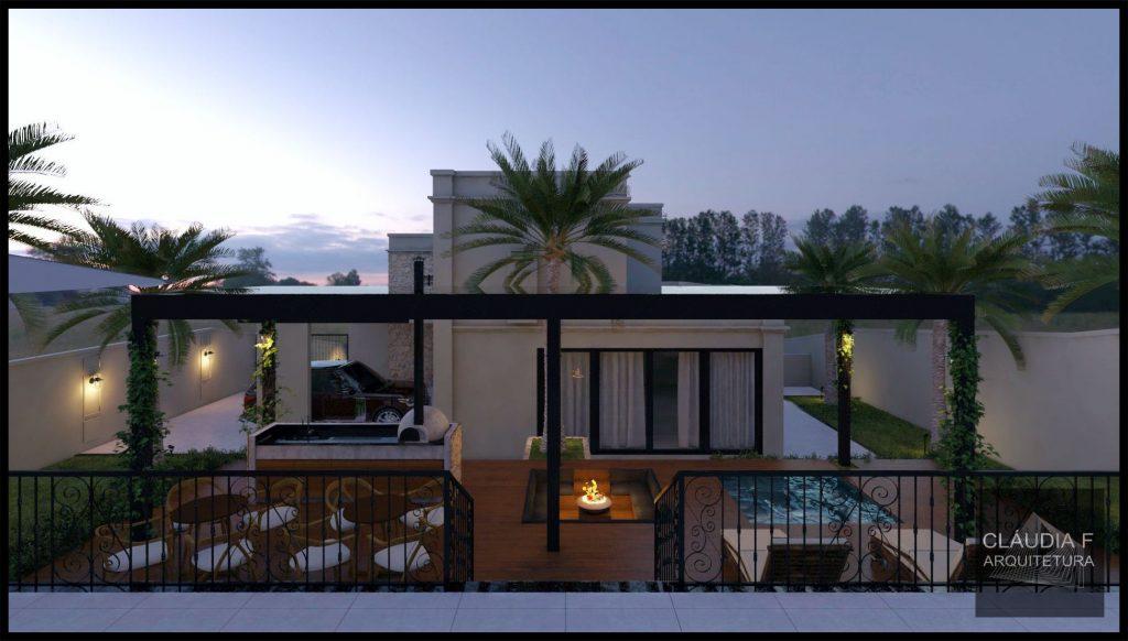Residência 2C - Fachada posterior - Cláudia F Arquitetura