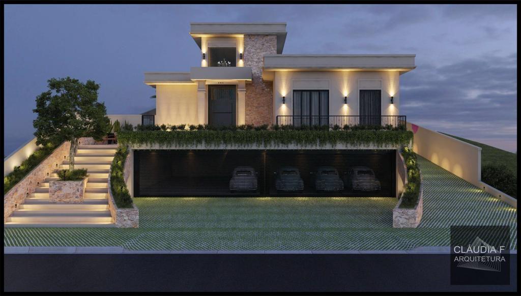 Residência 2C - Estilo Neoclássico - Fachada Frontal - Cláudia f Arquitetura